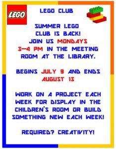 Summer Lego Club