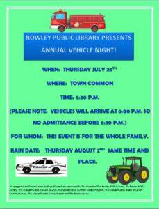 Vehicle Night (Rain Out Date)
